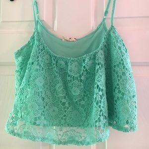 L.A. Hearts crochet crop top